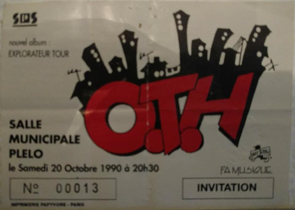 """20 octobre 1990 OTH à Plelo """"Salle Municipale"""""""