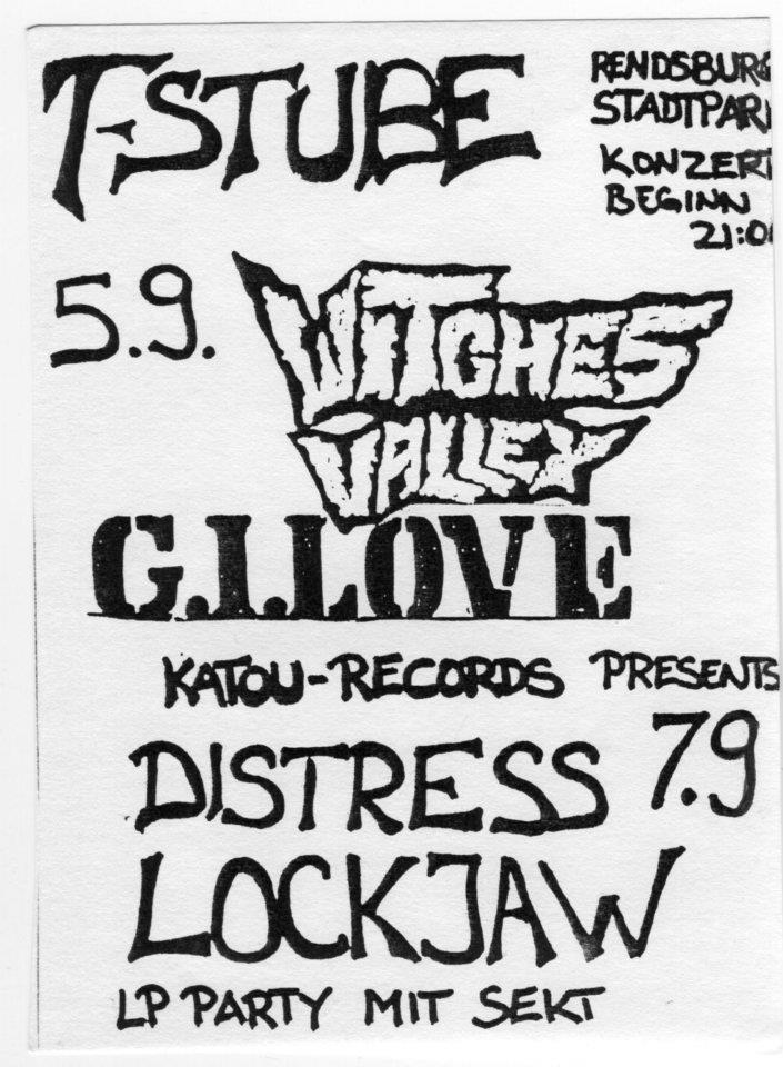 """5 septembre 1990 Witches Valley, GI Love à Rendsburg """"T-Stube"""""""