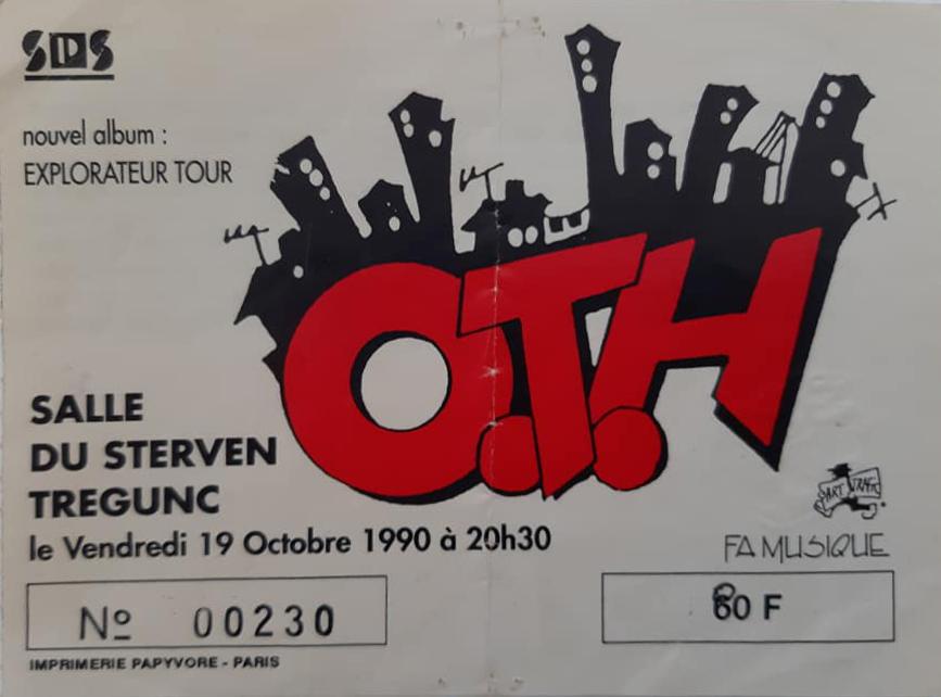 """19 octobre 1990 OTH à Tregunc """"Salle Du Sterven"""""""