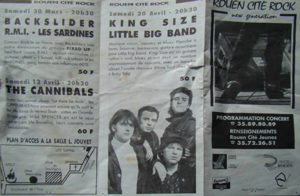 "20 avril 1991 King Size, Little Big Band à Rouen ""Salle Louis Jouvet"""