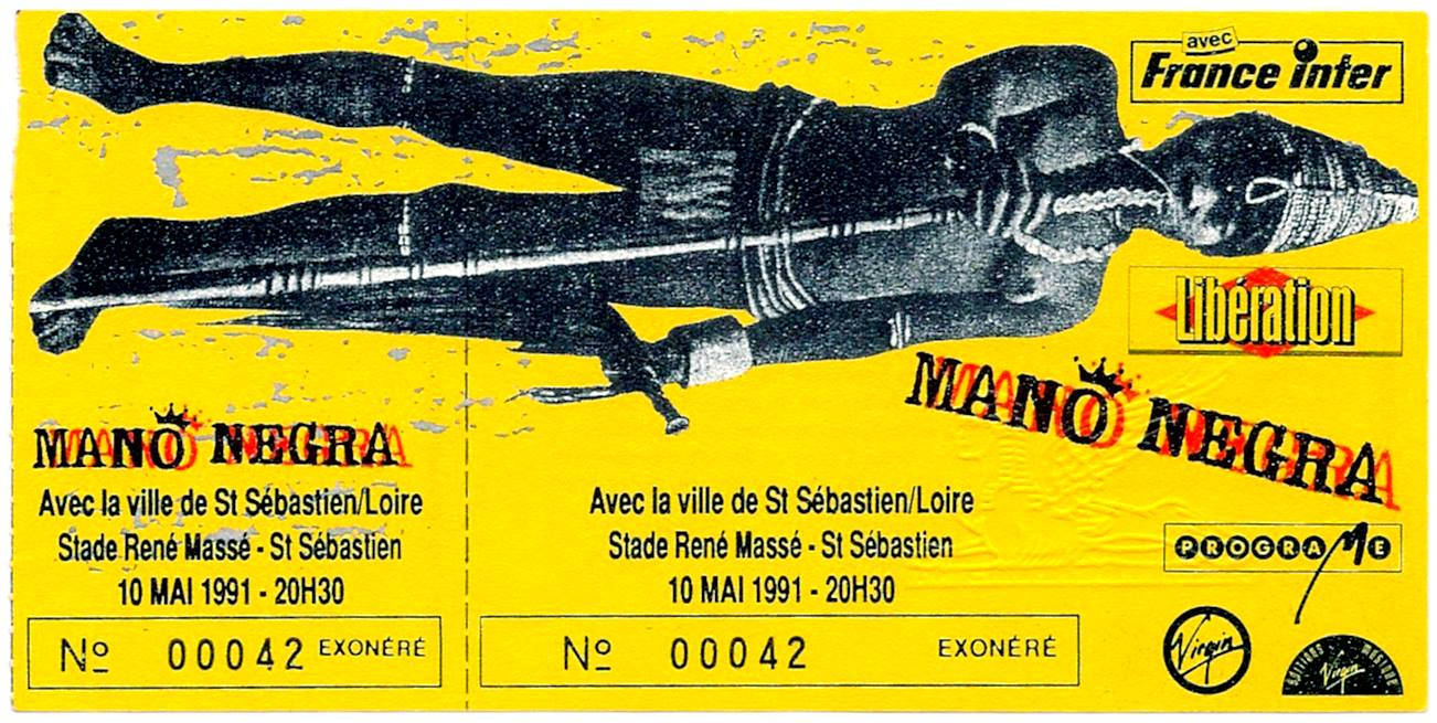"10 mai 1991 Mano Negra à Saint Sebastien Sur Loire ""Stade René Masse"""
