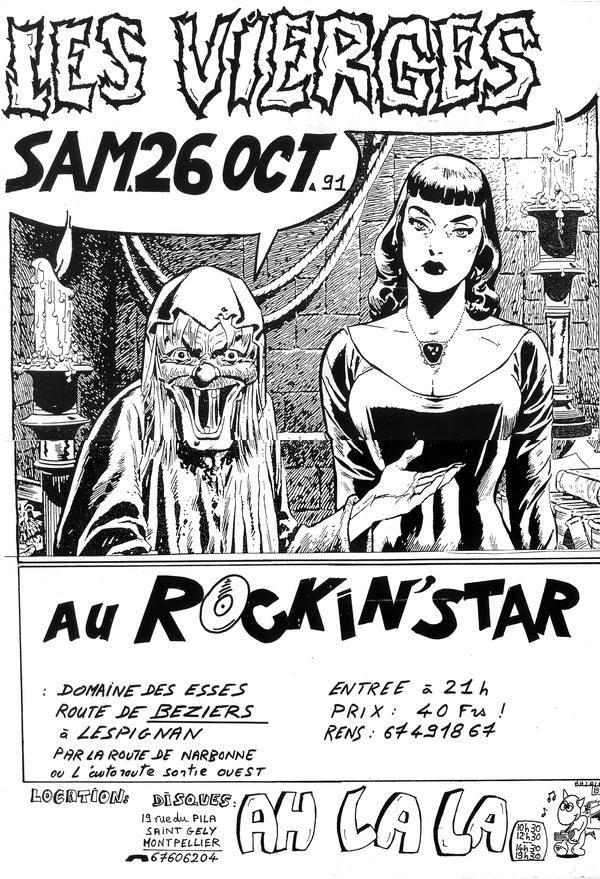 """26 octobre 1991 Les Vierges à Lespignan """"Au Rockin'Star"""""""