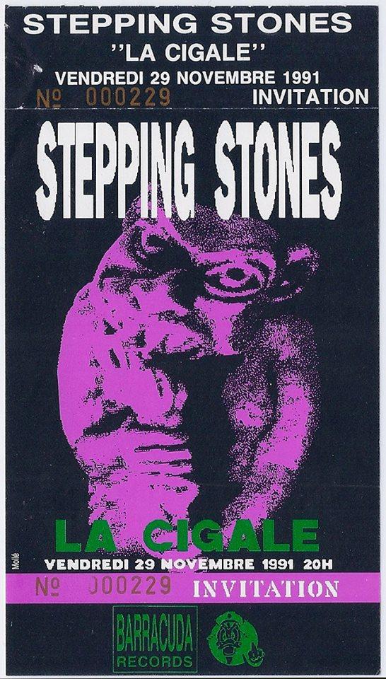 """29 novembre 1991 Stepping Stones à Paris """"la Cigale"""""""