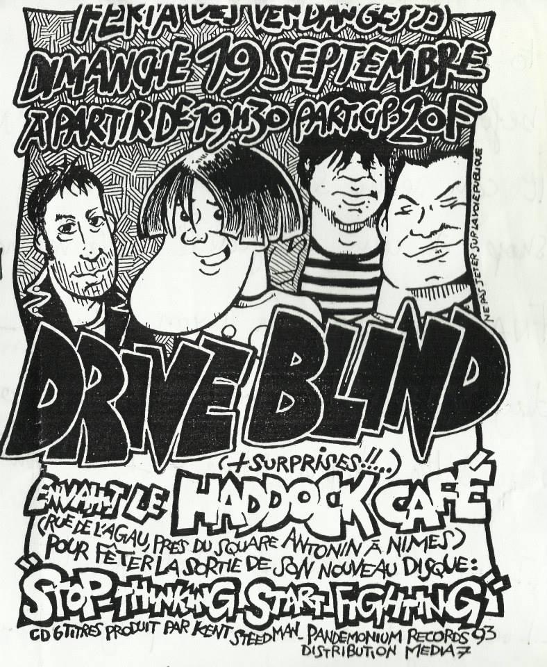 """19 septembre 1993 Drive Blind à Nimes """"Haddock Café"""""""