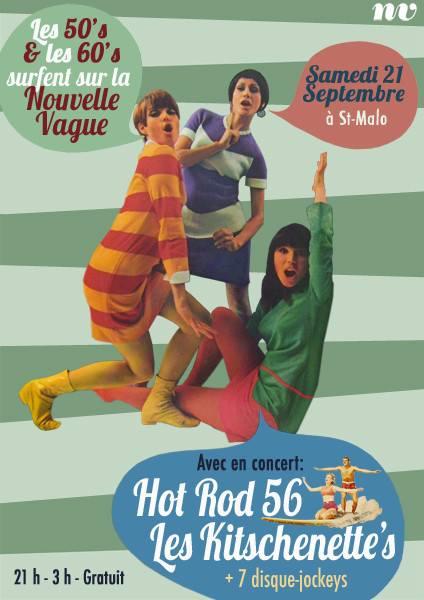 """21 septembre 2013 Les Kitschenette's, Hot Rod 56 à Saint Malo """"Nouvelle Vague"""""""