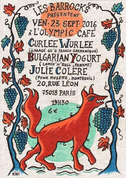 "23 septembre 2016 Curlee Wurlee, Bulgarian Yogurt, Julie Colere à Paris ""Olympic Café"""