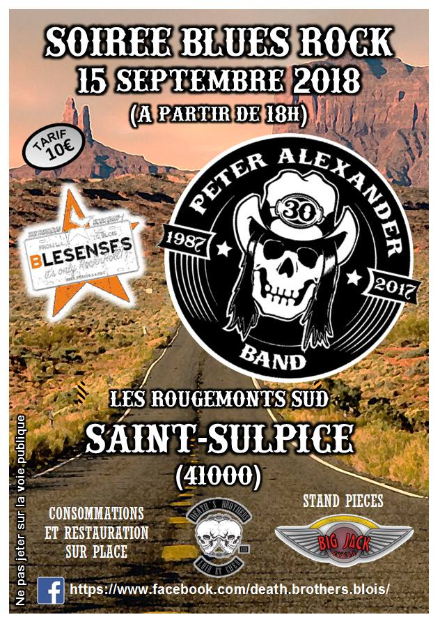 15 septembre 2018 Blesenses, Peter Alexander Band à Saint Sulpice