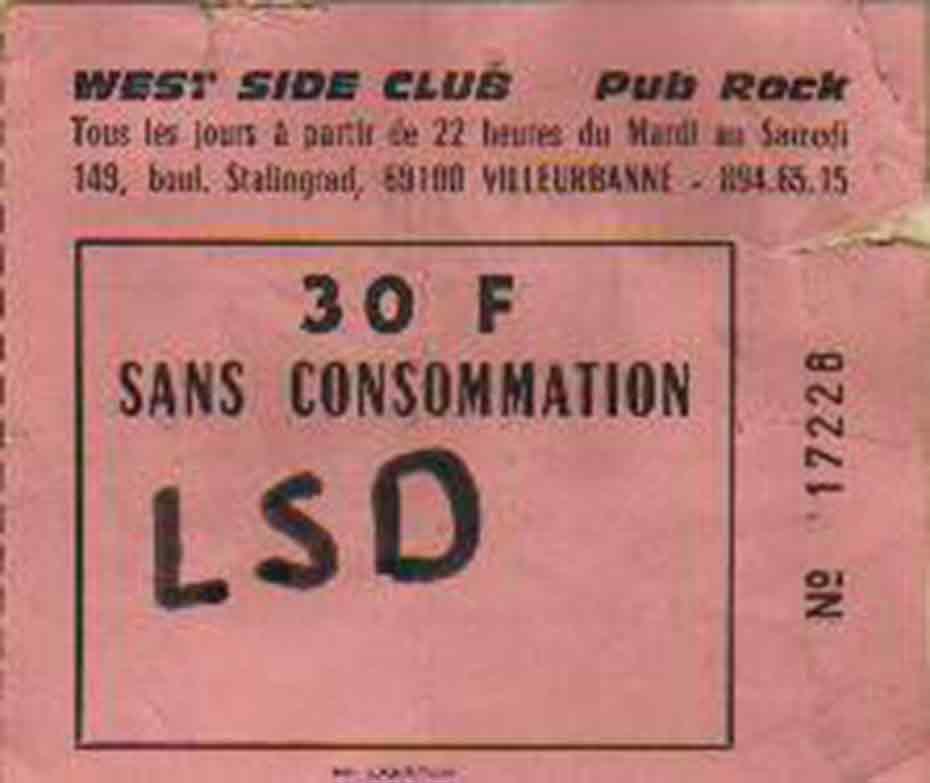 """29 février 1984 La Souris Deglinguée à Villeurbanne """"West Side Club"""""""