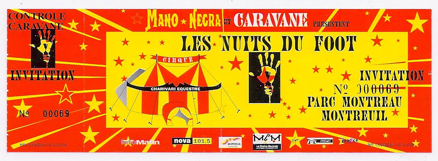 """Juin 1994 Mano Negra à Montreuil """"Parc Montreau"""""""