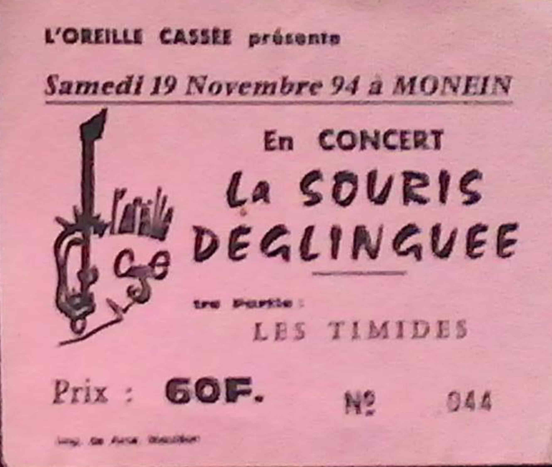 19 novembre 1994 la Souris Déglinguée, les Timides à Monein