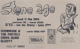 "11 mai 1995 Dominique A, The Pastels, Drive Blind, Elliott à Lyon ""B'52"""