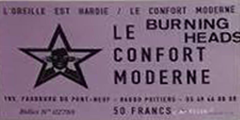 """3 novembre 2000 Burning Heads à Poitiers """"le Confort Moderne"""""""
