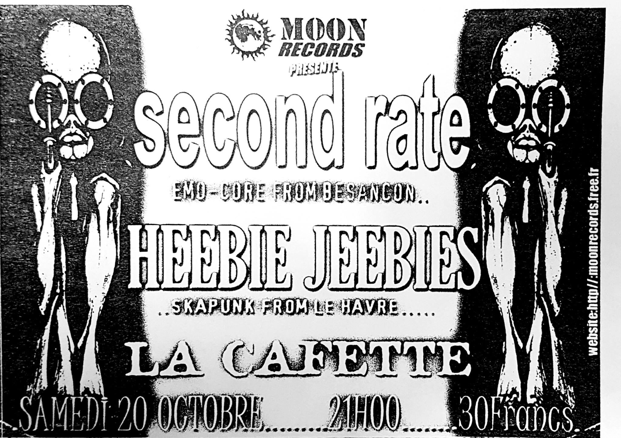 "20 octobre 2001 Second Rate, Heebie Jeebies au Havre ""la Cafette"""