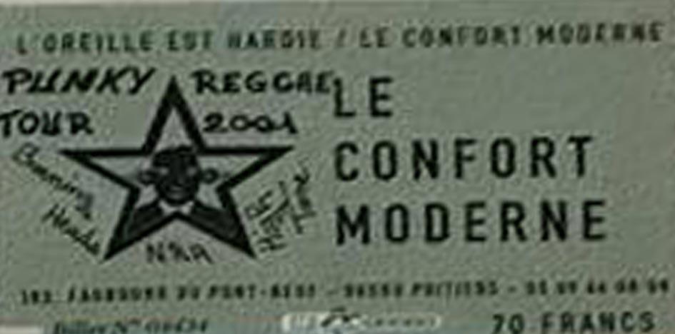 "1er novembre 2001 Burning Heads, NRA, High Tone à Poitiers ""le Confort Moderne"""