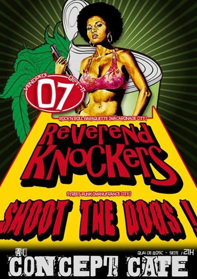 """7 octobre 2011 Révérends Knockers, Shoot The Dogs à Sete """"Concept Bar"""""""