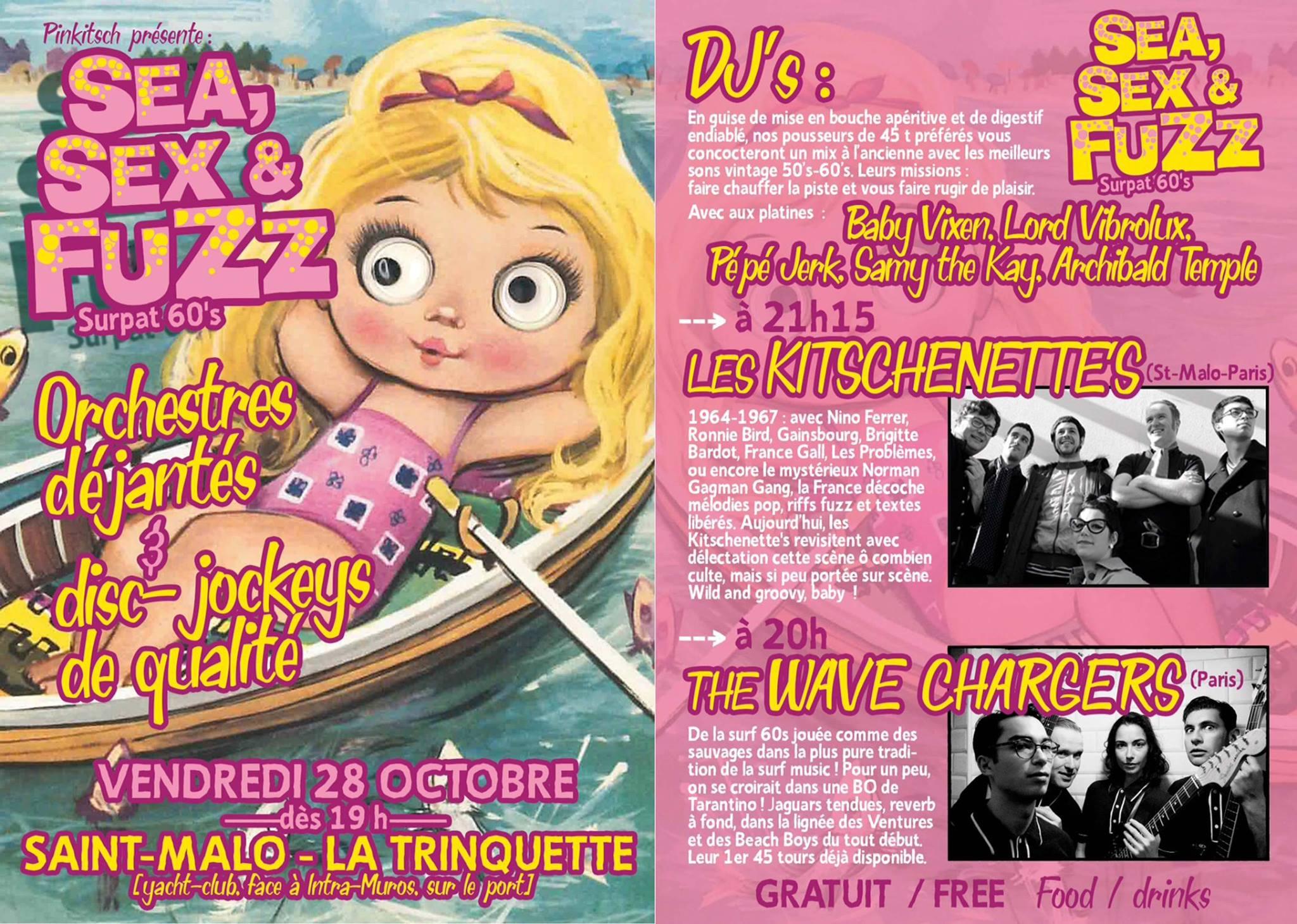 """28 octobre 2016 Les Kitschenette's, The Wave Chargers à Saint Malo """"la Trinquette"""""""