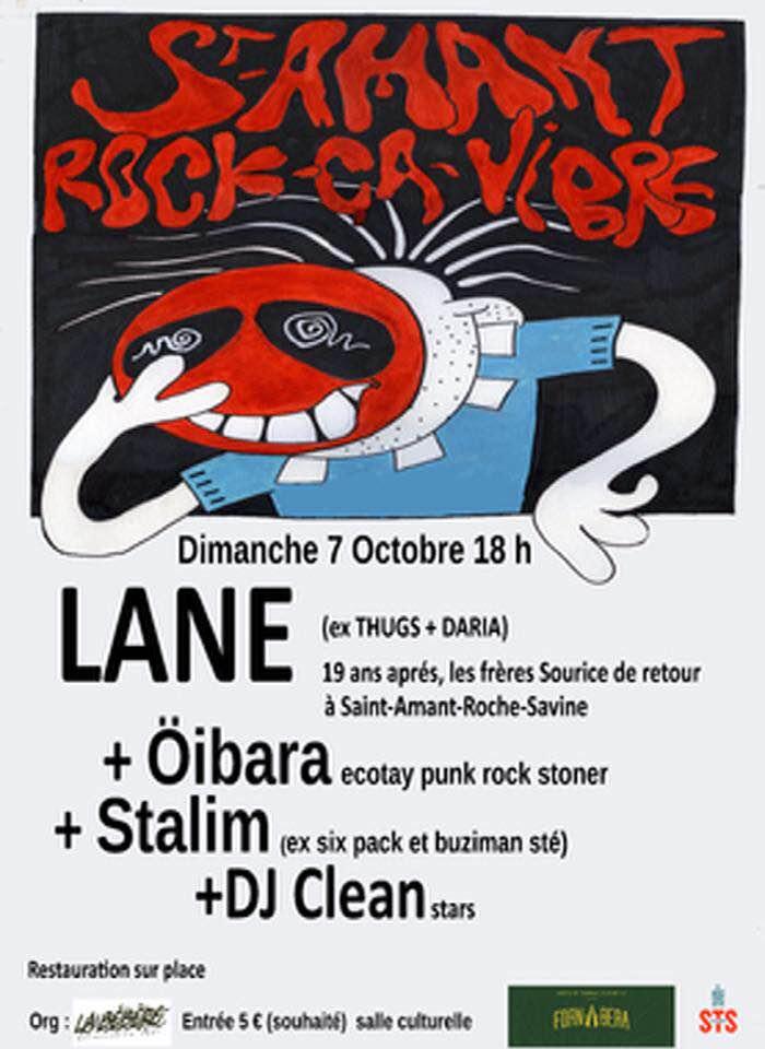 7 octobre 2018 Lane, Oibara, Stalim, DJ Clean à Saint Amant Roche Savine