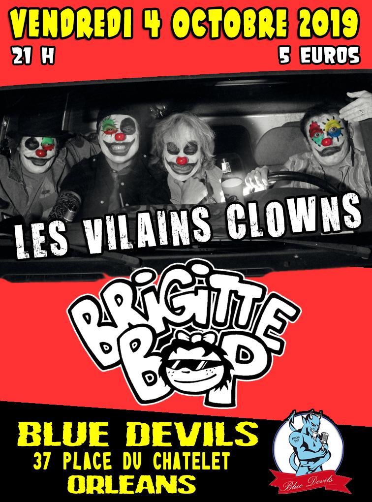 """4 octobre 2019 Les Vilains Clowns, Brigitte Bop à Orléans """"Blue Devils"""""""