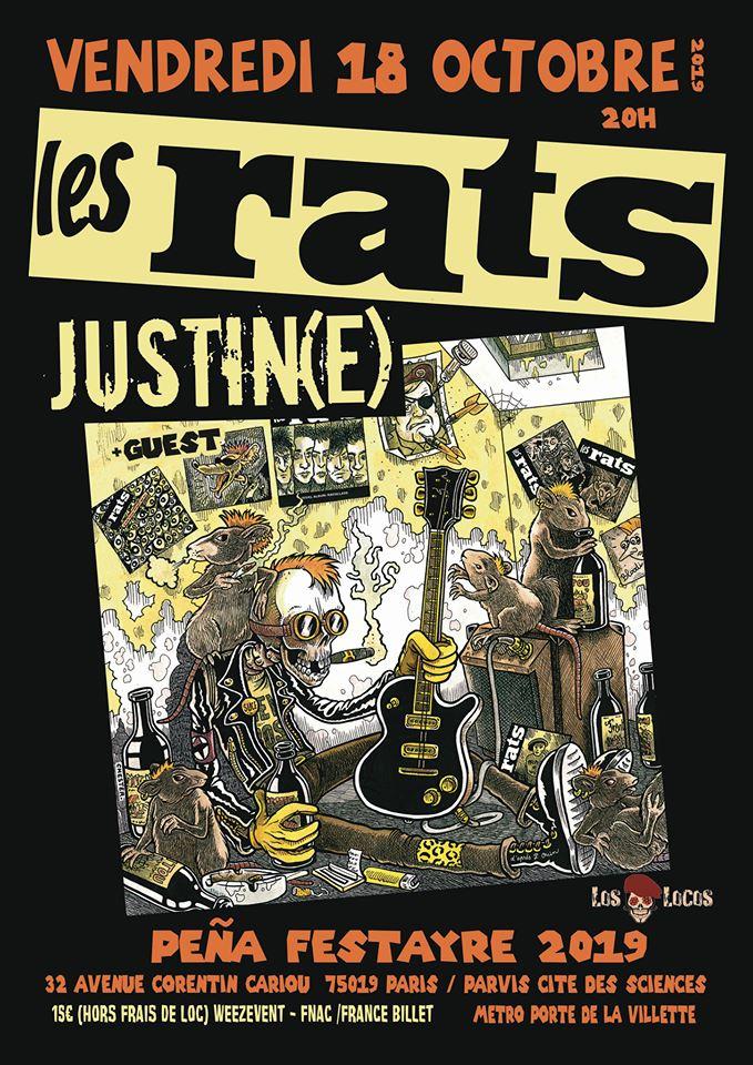 """18 octobre 2019 Les Rats, Justin(e) à Paris """"Pena Festayre"""""""