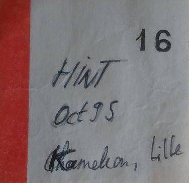 """octobre 1995 Hint à Lille """"Kameleon"""""""