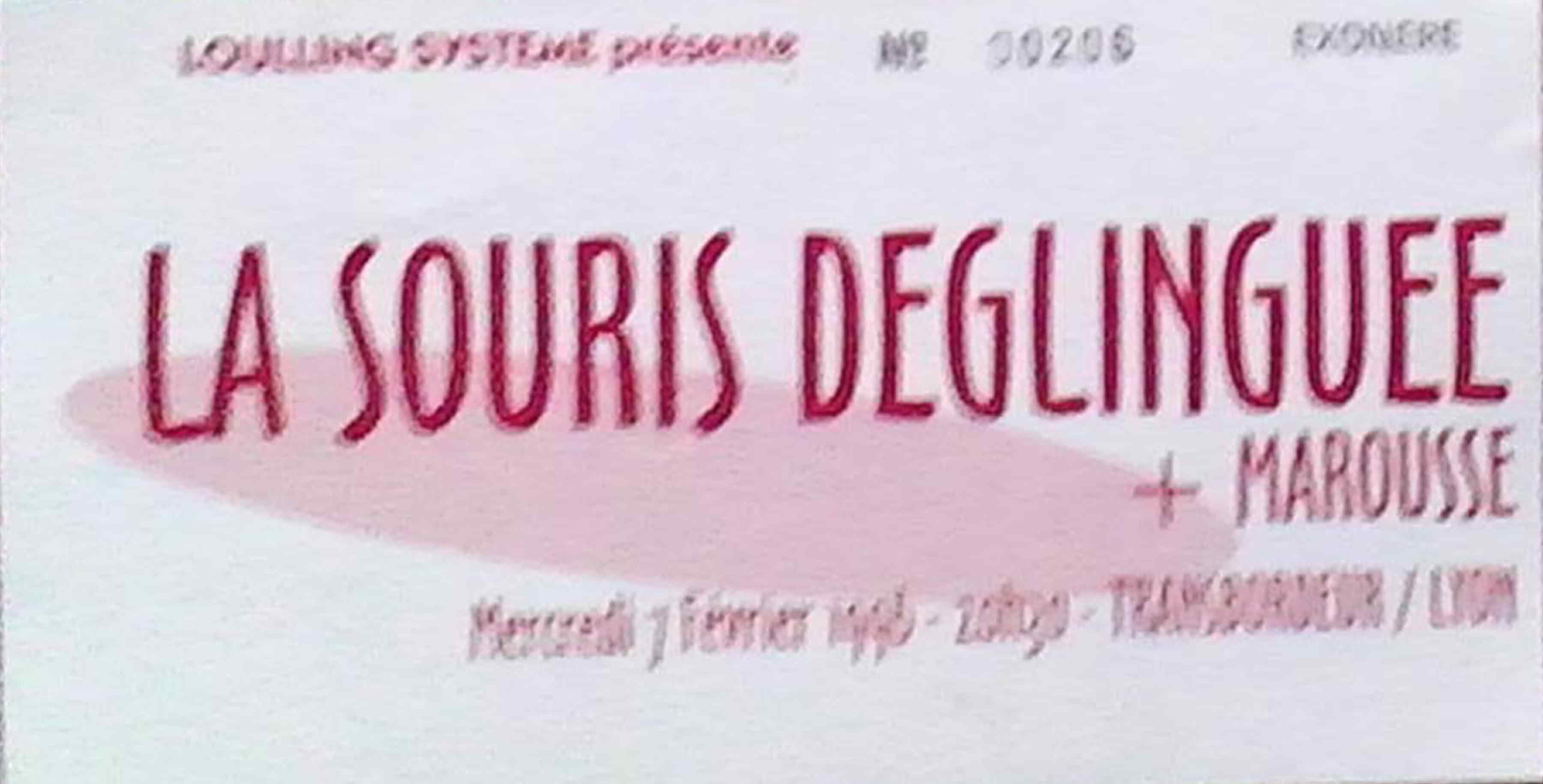 """7 février 1996 La Souris Déglinguée, Marousse à Villeurbanne """"Transbordeur"""""""