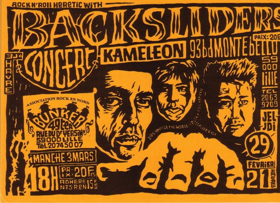 """29 février 1996 Backsliders à Lille """"Kameleon"""""""