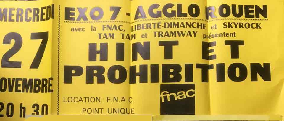 """27 novembre 1996 Hint et Prohibition à Petit Quevilly """"Exo 7"""""""