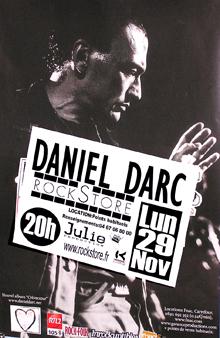 "29 novembre 2004 Daniel Darc à Montpellier ""Rockstore"""