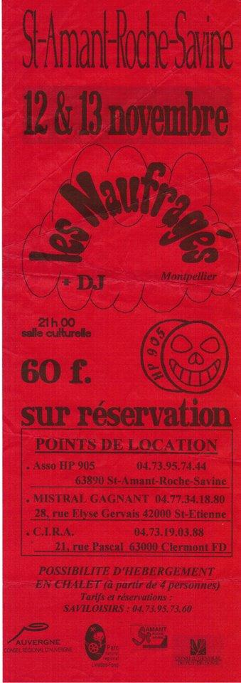 """12 novembre ?? Les Naufragés à Saint Amant Roche Savine """"Salle Culturelle"""""""