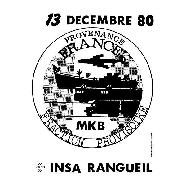 """13 décembre 1980 MKB à Rangueil """"Insa"""""""