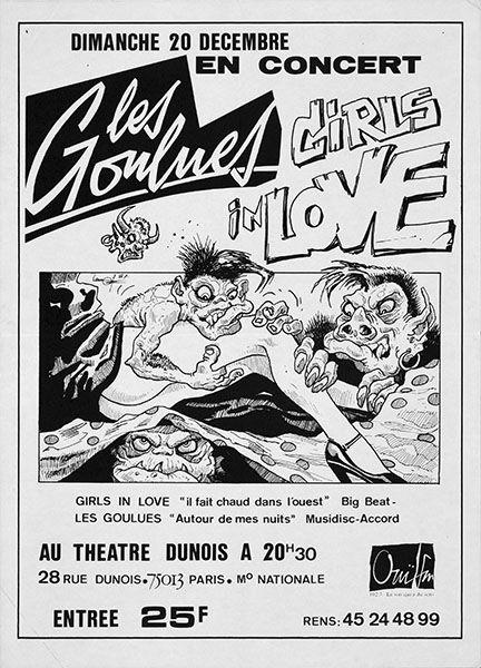 """20 decembre 1987 Les Goulues, Girls In Love à Paris """"Theatre Dunois"""""""