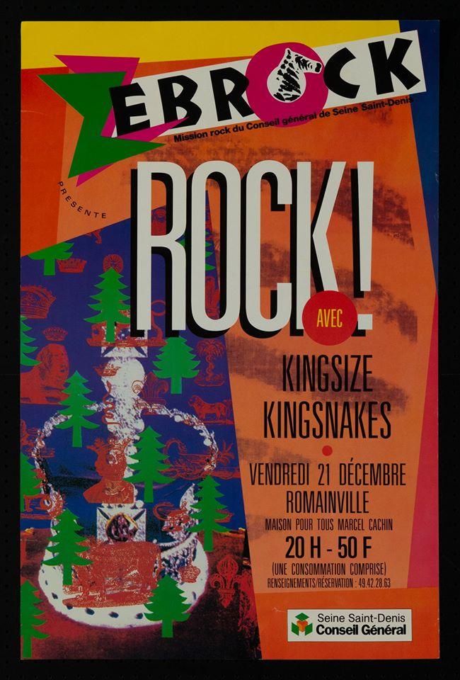 """21 decembre ? Kingsize, Kingsnakes à Romainville """"Maison Pour Tous Marcel Cachin"""""""