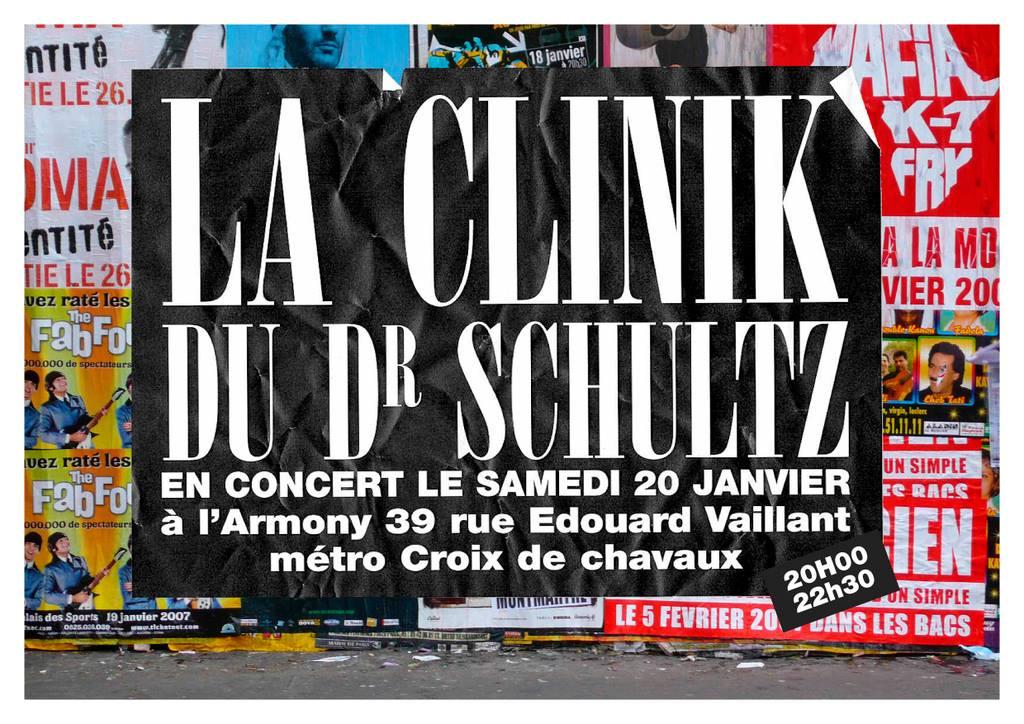 """20 janvier 2007 La Clinik Du Dr Schultz à Montreuil """"l'Armony"""""""