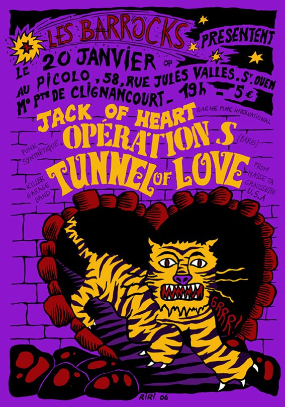 "20 janvier 2007 Jack Of Heart, Operation S, Tunnel Of Love à Saint Ouen ""Picolo"""