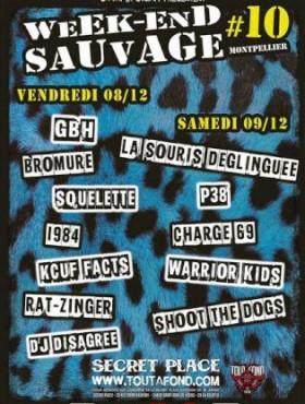 """8 Décembre 2017 GBH, Bromure, Squelette, 1984, Kcuf Facts, Rat-Zinger, DJ Disagree à Saint Jean de Vedas """"Secret Place"""""""