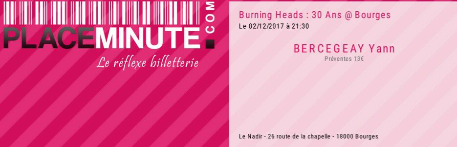 "2 decembre 2017 Burning Heads, Spermbirds, I've Learned à Bourges ""Nadir"""