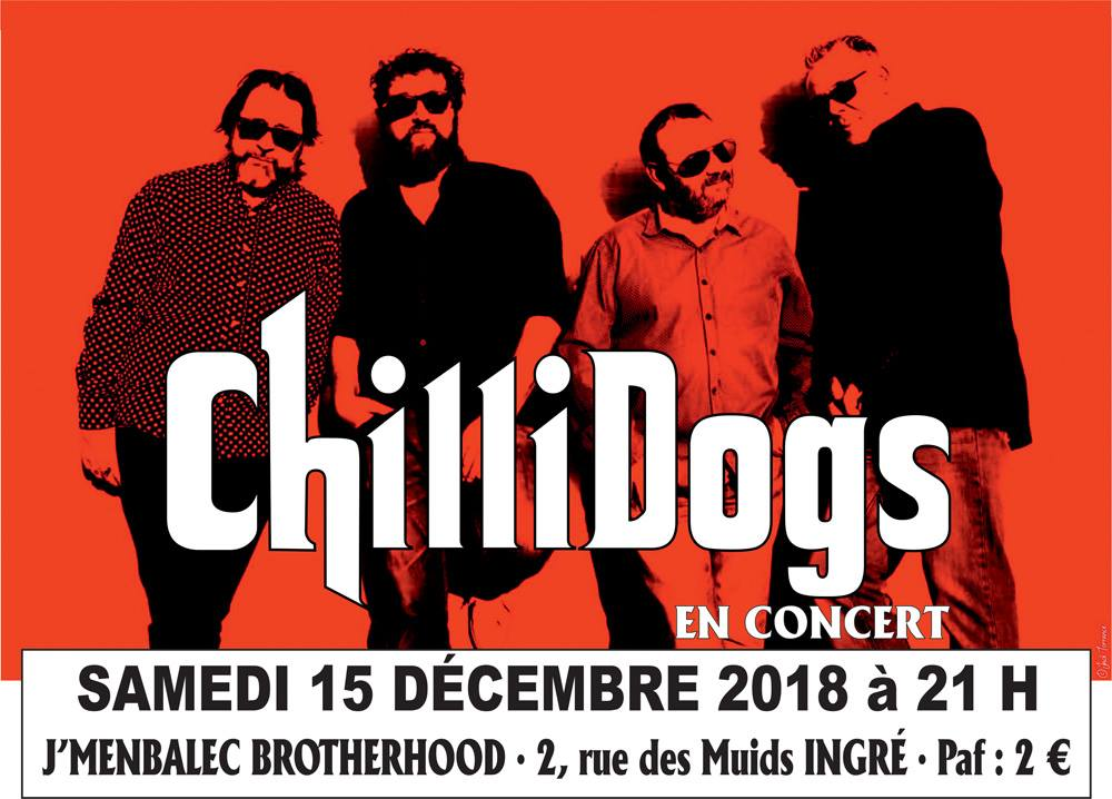 "15 decembre 2018 Chillidogs à Ingré ""J'Membalec Brotherhood"""