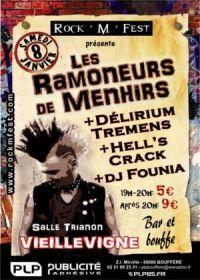 8 janvier 2011 les Ramoneurs de Menhirs, DElirium Tremens, Hell's Crack, DJ Founia à Vieillevigne
